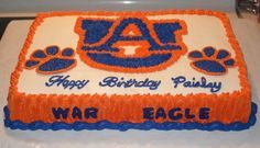Auburn Themed cake