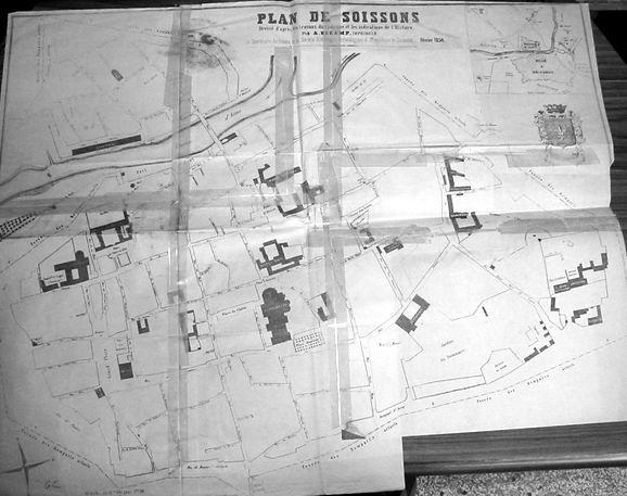 Plan de Soissons, dressé d'après les travaux du cadastre et les indications de…