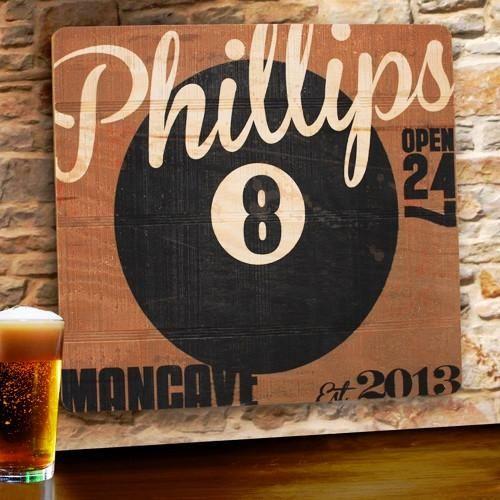 Wood Tavern and Bar Sign - 8-Ball