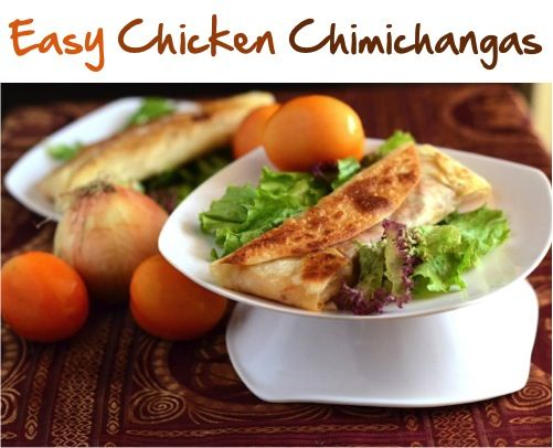 Easy Chicken Chimichangas Recipe! {add this quick and delicious dinner to your menu this week!}