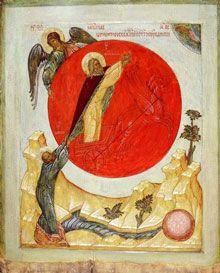 Ascension of Prophet Elijah Novgorod, 15 c.