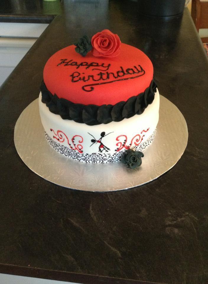 Birthday Cakes - Salsa dancing themed cake. Marshmellow fondant.