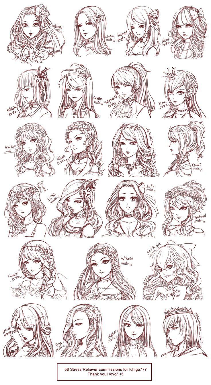 Wondrous 1000 Ideas About Anime Hairstyles On Pinterest Anime Hair How Short Hairstyles For Black Women Fulllsitofus