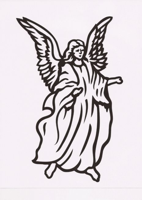 angel clipart for headstones - 464×655