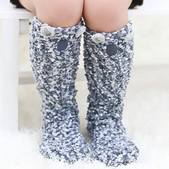 Plush Koala Toddler Socks