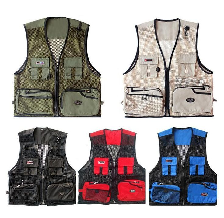 Fashion Summer Men Fishing Vests Multifunctional Quick-Drying Mesh Fishing Vest Jacket Outdoor Photography Camping Waistcoat
