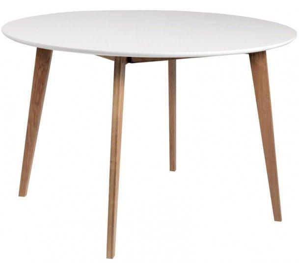 Link Spisebord - Rundt spisebord i matlakeret eg