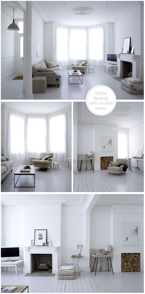Beautiful White, London Victorian Terrace House owned by Photographer, Paul Massey