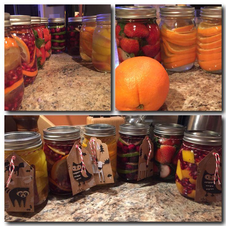 Infused Vodkas: Orange Ginger, Cranberry Lime, Strawberry Mint, Pomegranate Orange & Cinnamon Ginger Peach