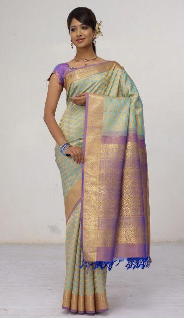 kerala Sheer sari | picture above if I wear a Kanchipuram sari.. The pallu of this sari ...