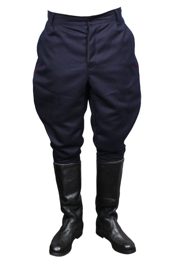 c9d009f454 Soviet NKVD Blue Galife trousers USSR military riding breeches in ...