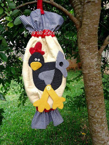 Puxa saco de cocó | par Artes da Zecota