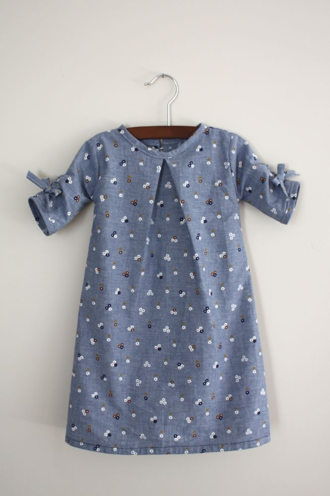 little blue flowers dress