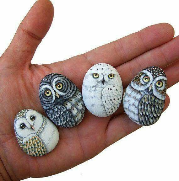 Owl art | simple rock painting idea | easy rock painting ideas | how to make painted rocks | painted rocks craft