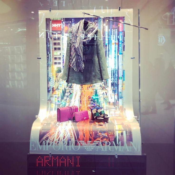 Window flashback to @armani #windowdesign in Dusseldorf. #visualmerchandising #retaildesign #retail