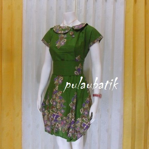 BAJU BATIK DRESS MURAH DB170 butik batik online jual model dress batik wanita terbaru harga murah dan berkualitas http://pulaubatik.com/category/dress-batik/