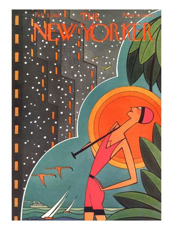 The New Yorker Cover - February 5, 1927 Giclee-trykk av H.O. Hofman hos AllPosters.no