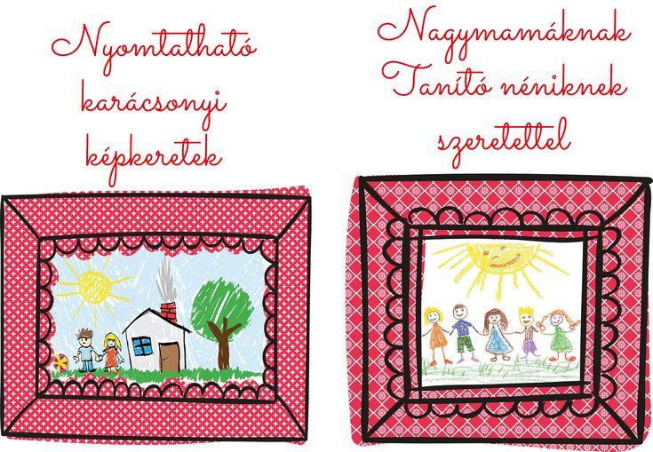 Nyomtatható képkeret gyerekrajzoknak