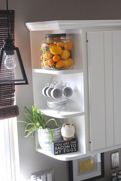 10 amazing kitchen updates on a dime, home decor, kitchen backsplash, kitchen design, Open shelves accessories lots of color and details