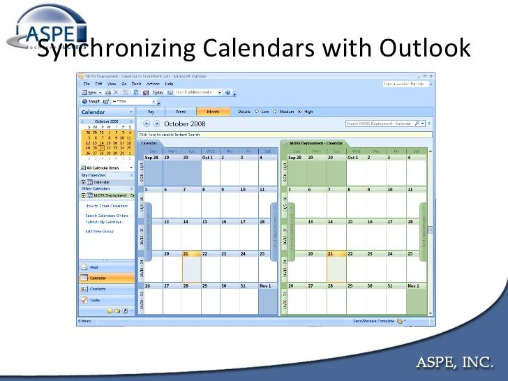 You can sync up your Outlook email calendar with your team site's SharePoint calendar