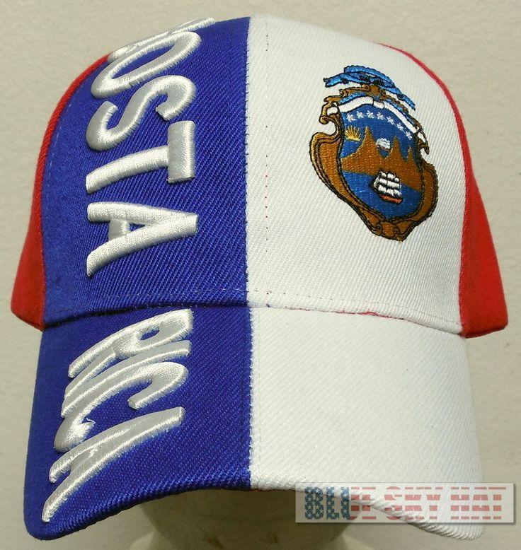 COSTA RICA COUNTRY FLAG FIFA WORLD OLYMPIC GAME SOCCER CUP TEAM SAN JOSE CAP HAT #FINEPREMIUMQUALITYHATS #BallCap