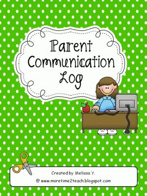 Parent Communication Log from More Time 2 Teach on TeachersNotebook.com -  (5 pages)