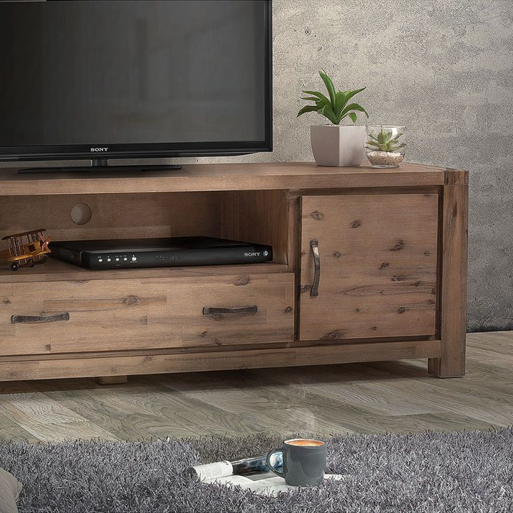 Made from a combination of High Quality Solid Acacia Wood and Acacia Wood VeneersRustic Wire Brush FinishingDimensions:2000mm (L) x 500mm (W) x 590mm (H) | Open Shelving: 180mm (H) x 790mm (W) x 470mm (D)Note: Accessories shown in image are not included.