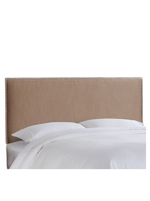 57% OFF Skyline Brass Nail Button Headboard (Chamois)
