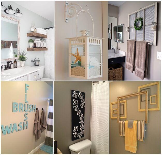 10 Creative Diy Bathroom Wall Decor Ideas In 2020 Bathroom Wall