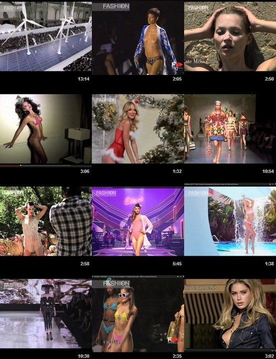 """100 TOP RATED VIDEOS"" of #fashionshows, #fashionweeks, fashion events, top #models, trends selections, celebrities, photographers, flash back, adv campaigns backstage and fashion heritage coming from the enormous library of Fashion Channel."