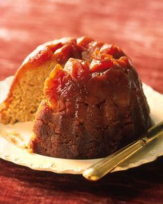 Caramel Apple Steamed Pudding - Martha Stewart Recipes.  Caramel and apples go naturally together, and this steamed pudding is old-fashioned and romantic.