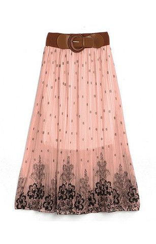 Boho Floral Design Long Skirt (More Colors Available) – Trendy Road