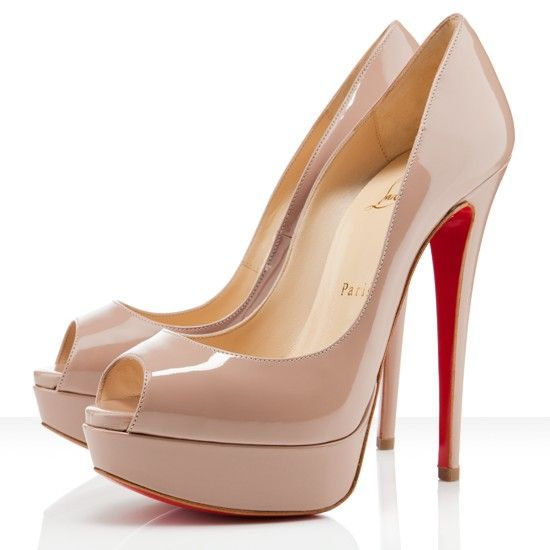 Christian Louboutin Lady Peep-Toe 150mm Pumps Nude,I like it .