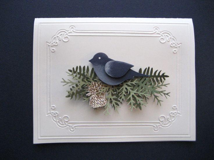 Simple bird branches card