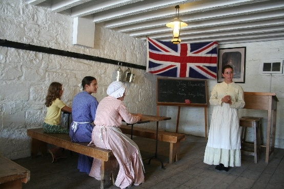 Fort Henry - relive the experience f a Victorian school room where the children of the soldiers were taught