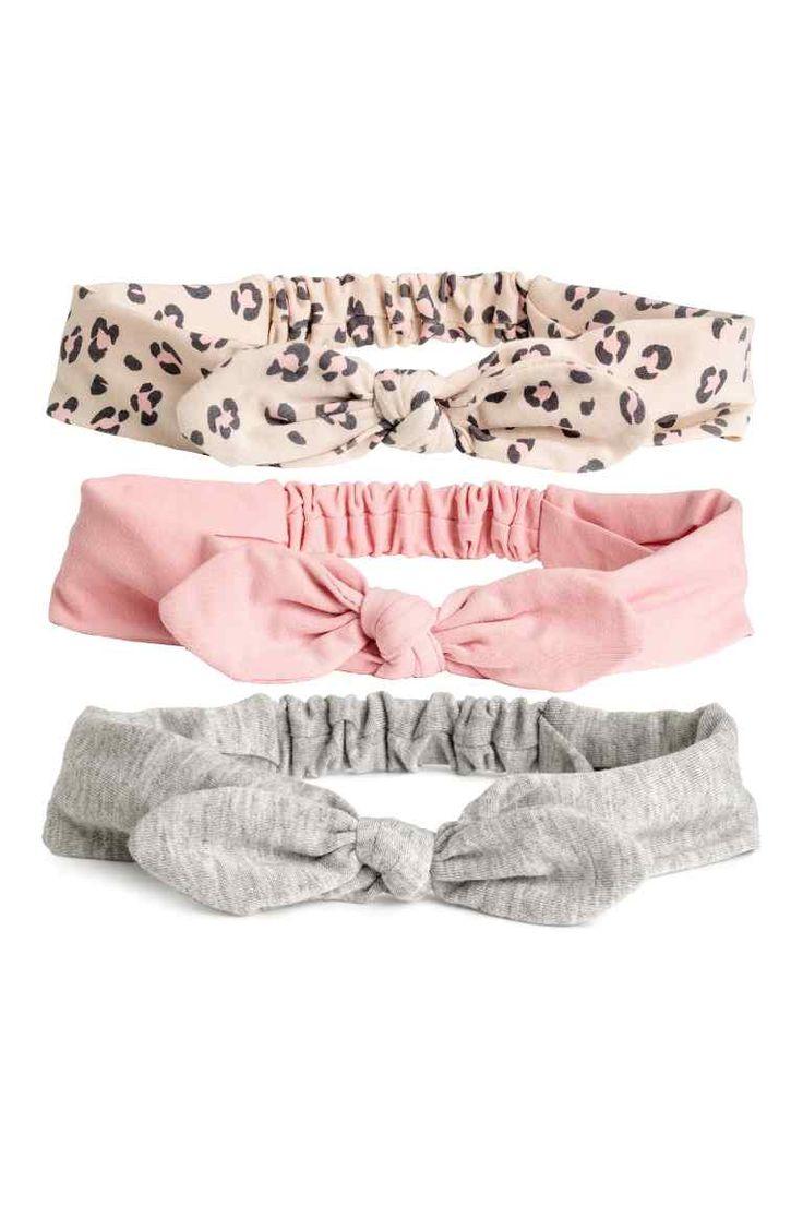 3 kpl hiuspantoja - Puuteriroosa/Leopardikuvio - Kids | H&M FI 1