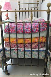 A quilt version of Grandma's Feather Bed???  Love it!