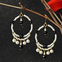 How do you like beaded dangle earrings? Here I will share a pair of fresh beaded dangle earrings with you all.