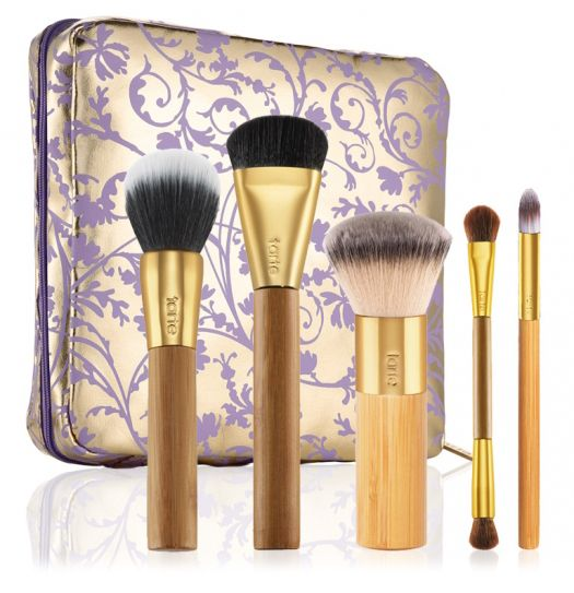 Tarte Sweet Dreams Holiday 2014 Collection - Brushed with Destiny – Set of 5 Bamboo Brushes & Makeup Bag