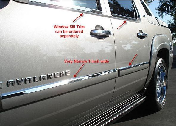 Chrome Stainless Steel Accent Bezel For Body Side Molding