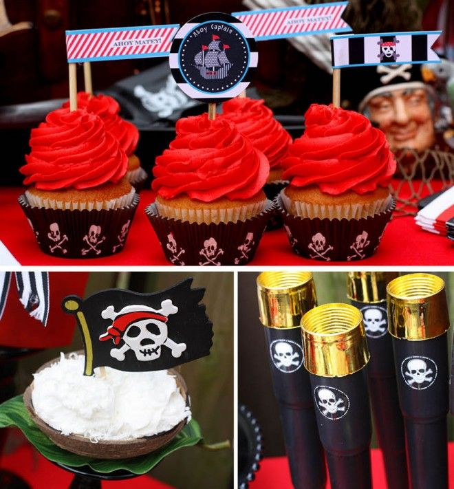 Pirate Birthday party.: Pirates Birthday Parties, Kids Birthday, Pirates Parties, Pirate Birthday Parties, Parties Ideas, Party Ideas, Parties Cupcakes, Pirates Theme, Pirate Party'S