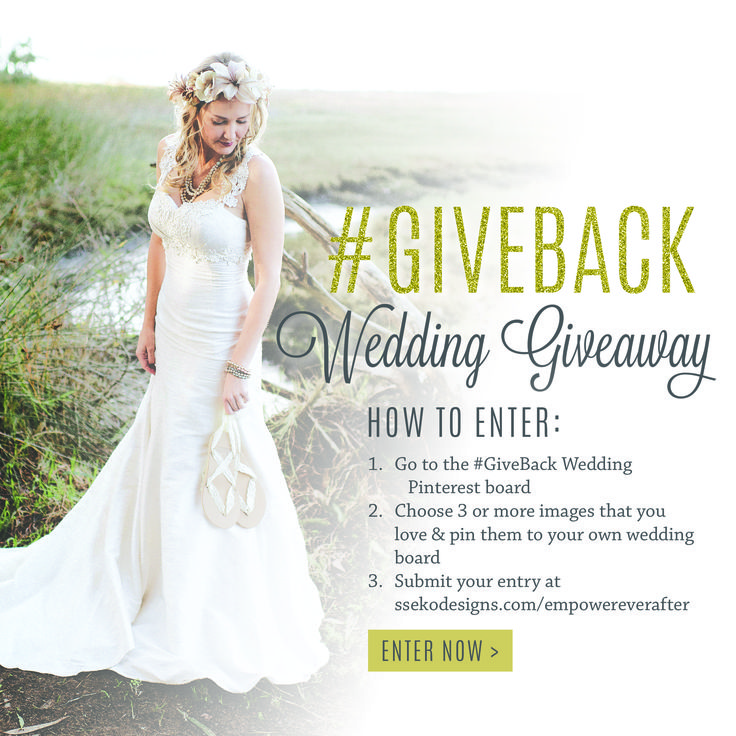 6888ca56a1b019 ... Wedding Giveaway Win your dream wedding with an ethically-produced silk  dress from bridal sandals ...