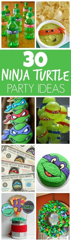 30 Teenage Mutant Ninja Turtle Party Ideas