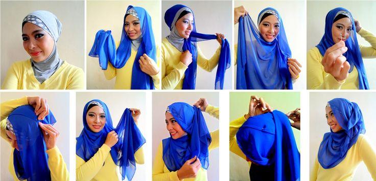 Tutorial Hijab Pesta Simple