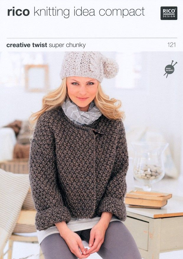 Cardigans in Rico Design Creative Twist Super Chunky (121) | Deramores