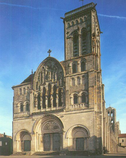 The Romanesque cathedral at Vezelay (1100 AD)  This is where Bernard of Clairvaux preached the Second Crusade