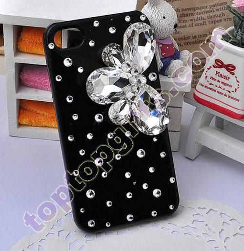 crystal stone flower cell phone cover