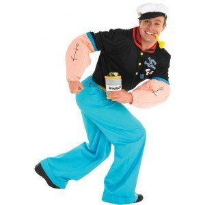 Deguisement popeye the sailor le marin deluxe adulte