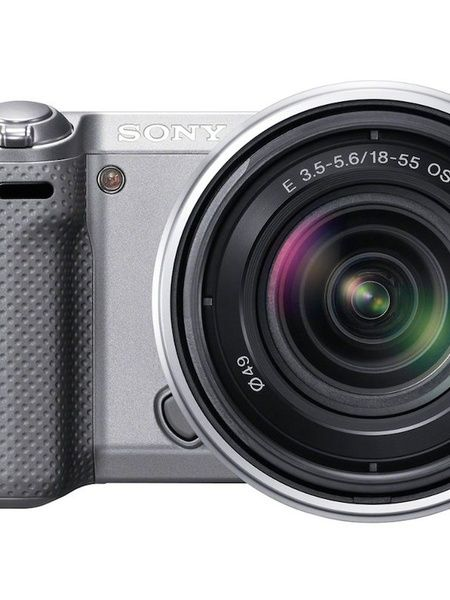Sony NEX-5R Compact Interchangeable Lens Digital Camera - Silver