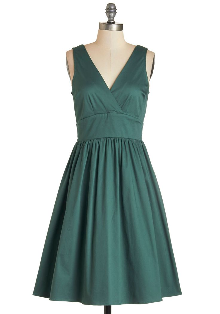 Green bridesmaid dress  Lesson in Allure Dress, @ModCloth